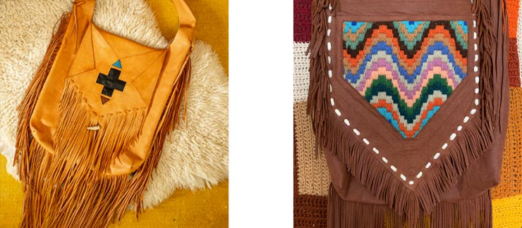 SUNDANCE bag with inlaid Navajo design and SUNDANCE BAG Woven