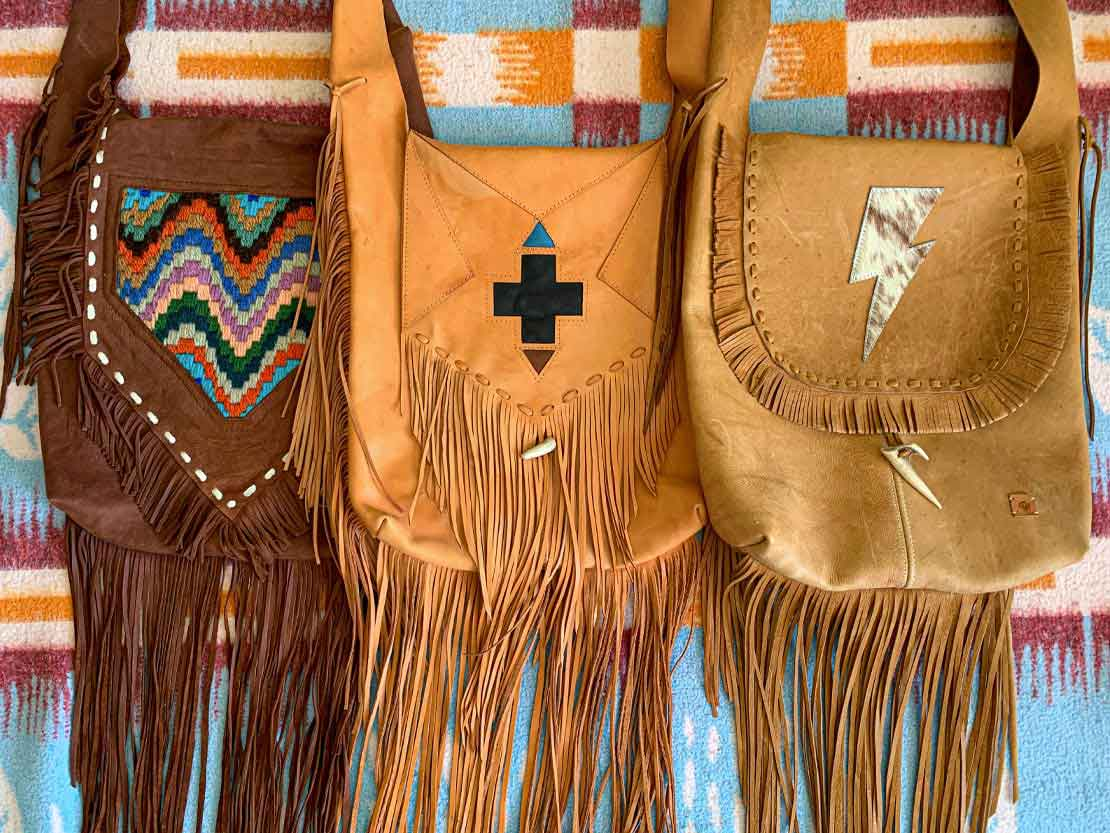 3 bohemian tassel fringe bags made by el hoBo